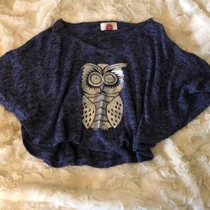 🌵 Girls owl poncho